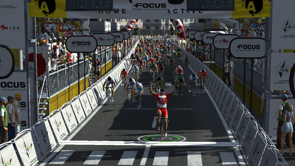 Jonathan Cantwell wins the final stage of the Tour d'Azerbaidjan.