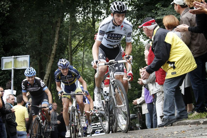 Tanner got his first WorldTour contract with Saxo Bank in 2011.