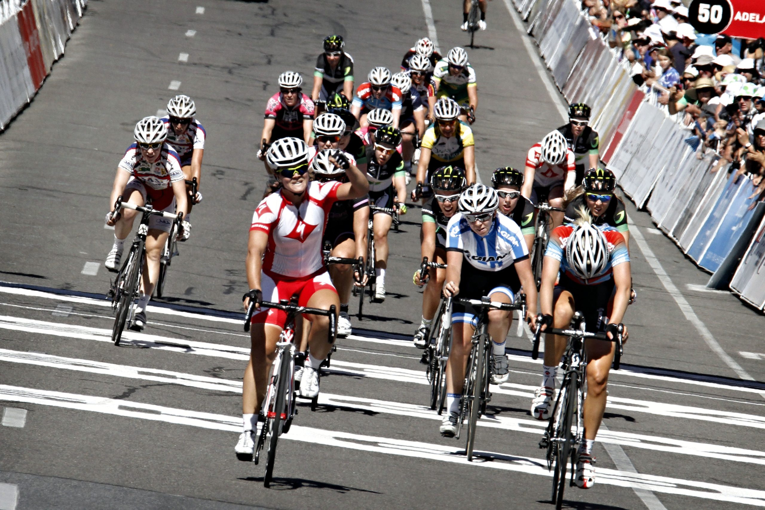 Rebecca Werner pictured during the criterium in Adelaide - Santos Women Cup - foto Cor Vos ©2012