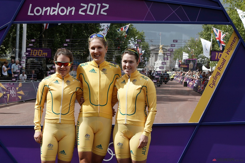 The last major Games Chloe represented Australia in was the 2012 London Olympics. She's pictured here standing alongside Amanda Spratt (left) and Shara Gillow (centre).
