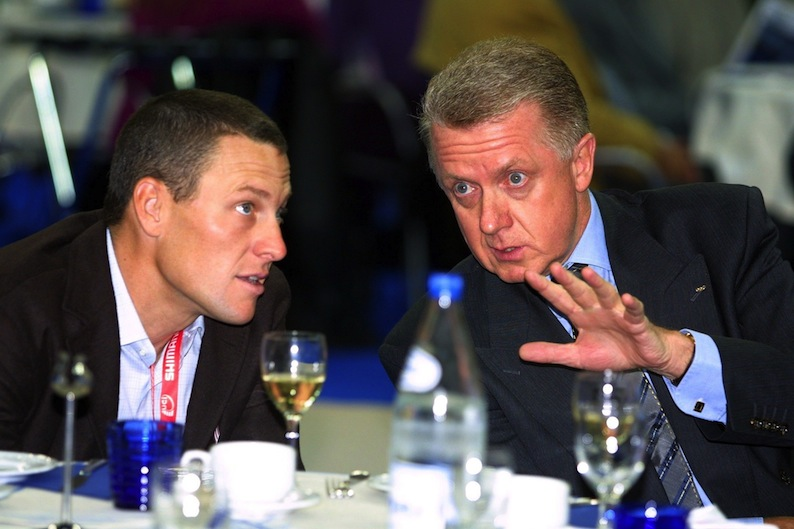 Lance Armstrong and former UCI President Hein Verbruggen