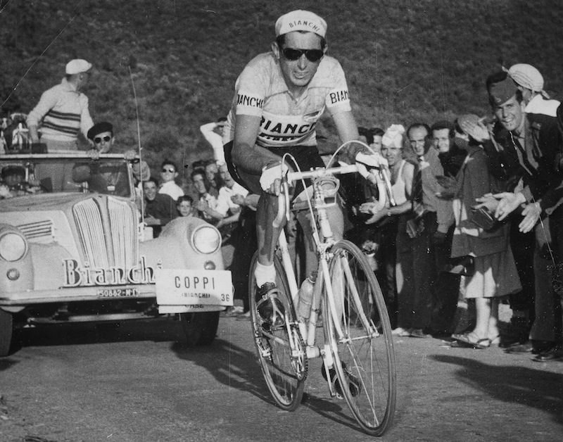 Fausto Coppi was one of the first to don the aviator sunglasses