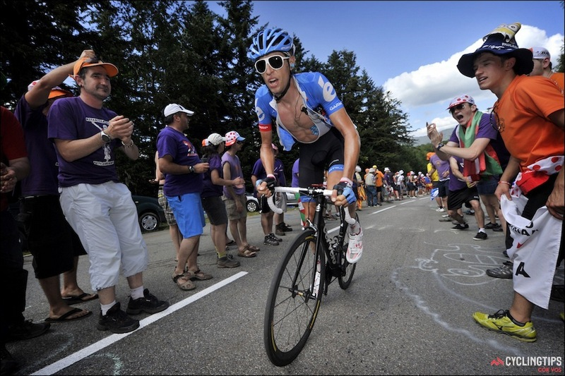 Ryder Hesjedal introduced POC's disco-inspired eyewear to the cycling market. He is pictured here in the 2013 Tour de France wearing Poc's DID shades.