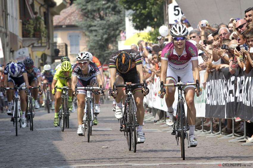 Vos won three stages at the 2013 Giro Rosa.
