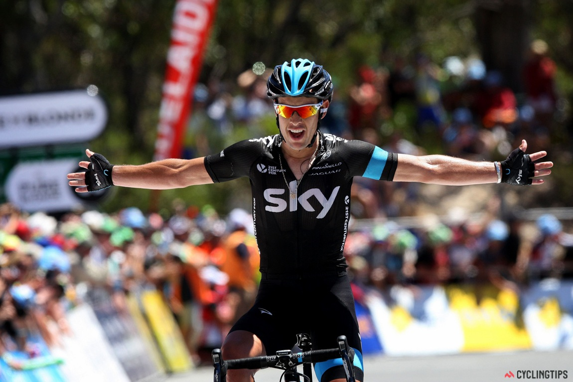 Richie Porte takes Team Sky's first win of the year and wins on Willunga is 2014.
