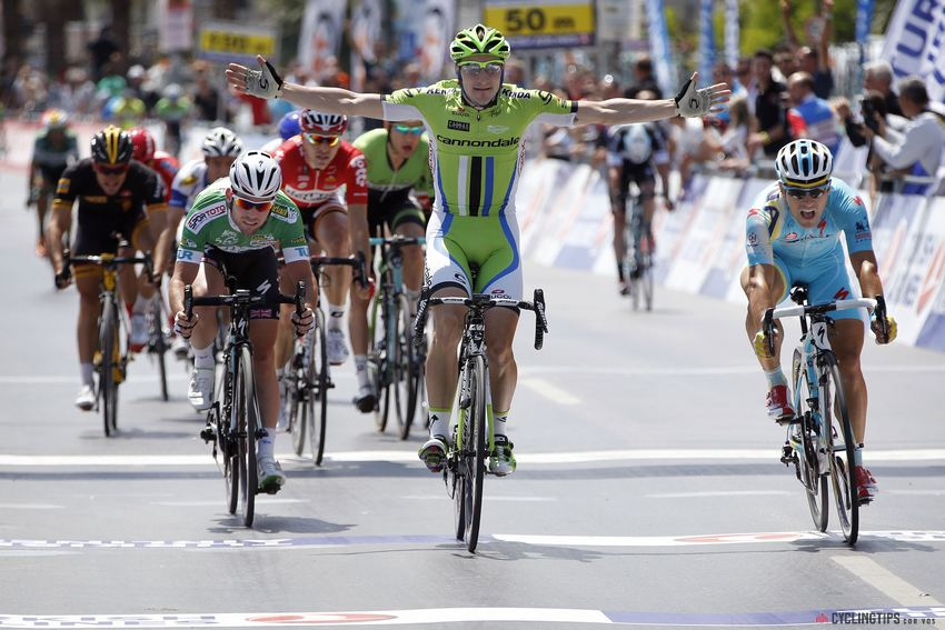 Elia Viviani wins his second stage in this year's Tour of Turkey.
