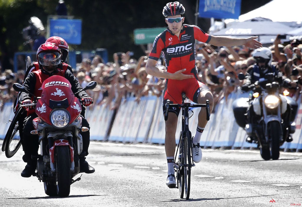Take a bow! Taylor Phinney (BMC Racing Team) soloed to victory in Santa Barbara at the 2014 Amgen Tour of California. Photo Wessel van Keuk/Mark Johnson/Cor Vos.