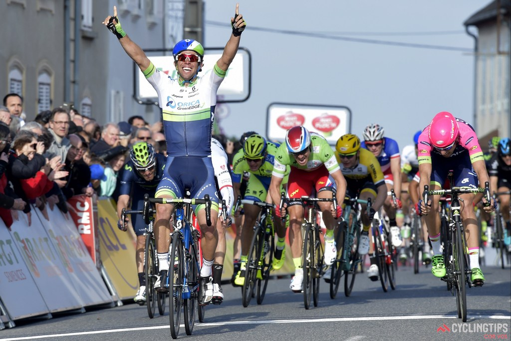 Michael Matthews has started 2015 in fine fashion and is seen here winning stage 3 of Paris-Nice.