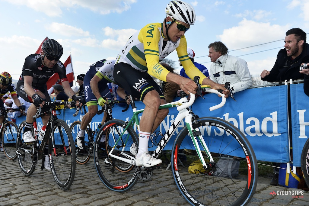 Haussler during this year's Tour of Flanders.