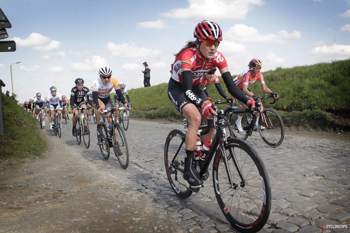 Carlee Taylor (Lotto-Soudal) made her Tour of Flanders debut on Sunday