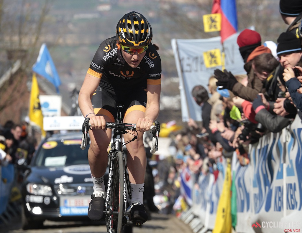 Oudenaarde  - Belgium - wielrennen - cycling - radsport - cyclisme -  Longo Borghini Elisa of Wiggle Honda pictured during Tour of Flanders women UCI WC - photo Davy Rietbergen/Cor Vos © 2015
