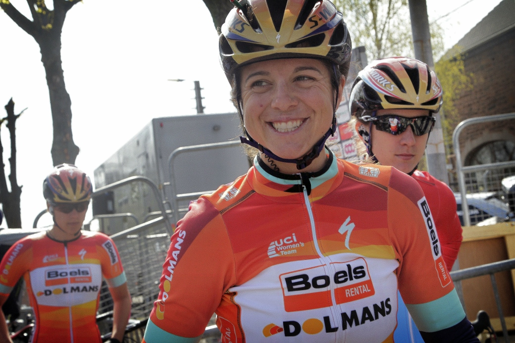 Huy - Belgium - wielrennen - cycling - radsport - cyclisme - Evelyn Stevens of Boels Dolmans Cycling Team pictured during la Fleche Wallone 2015 women - photo Anton Vos/Cor Vos © 2015