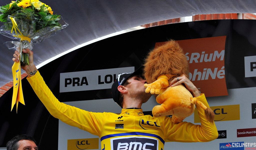 Tejay Van Garderen (BMC Racing) took the race lead on Stage 5 of the 2015 Criterium du Dauphine Libere, and held it for two days before finishing second overall behind Chris Froome (Team Sky). Photo: Cor Vos.