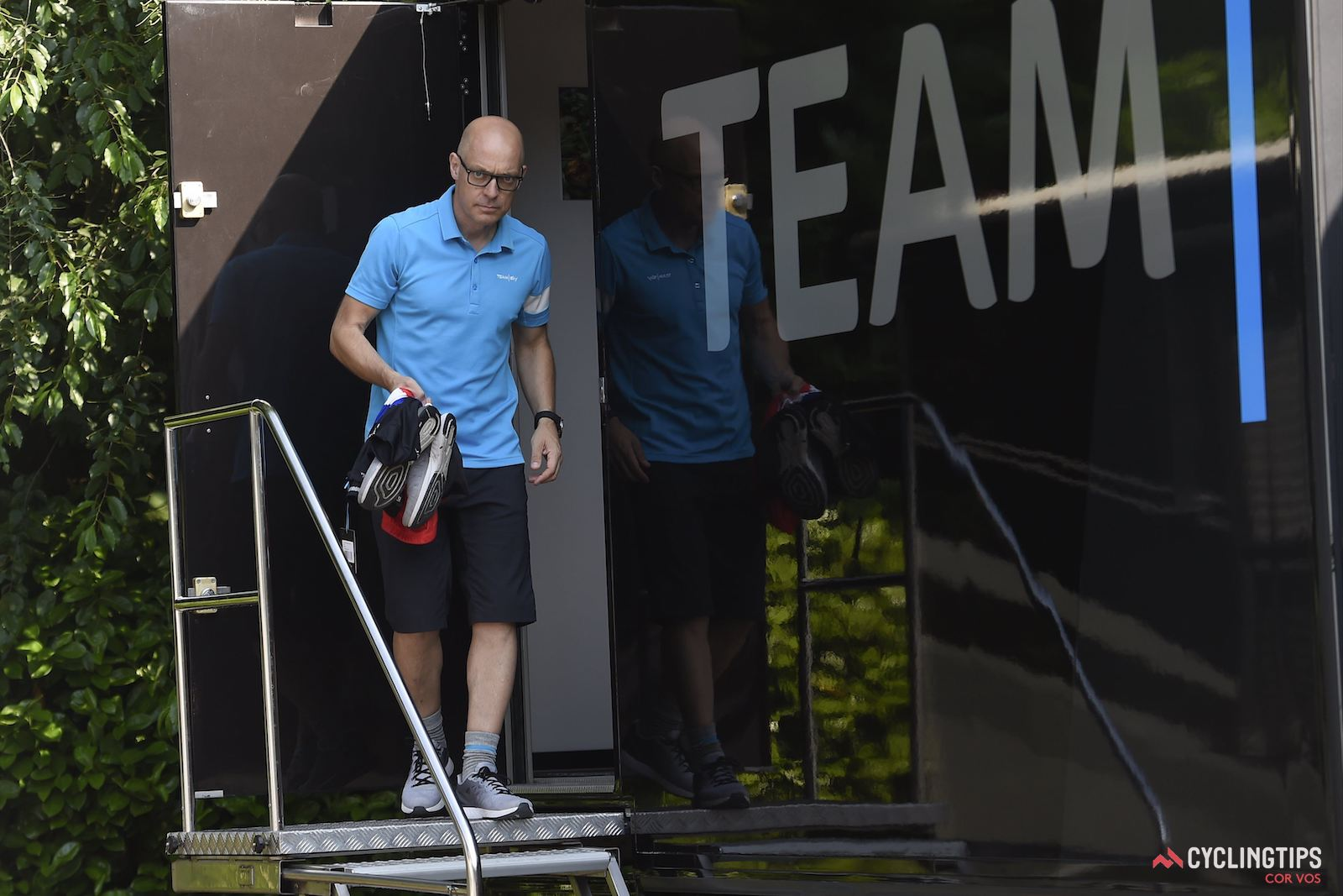 Dave Brailsford has led Team Sky since its inception in 2009, with four Tour de France victories by two riders over the past five years. However he's also been responsible for actions, and PR disasters, that have severely undermined the team's credibility. Is it time for him to step aside? Photo: Cor Vos.