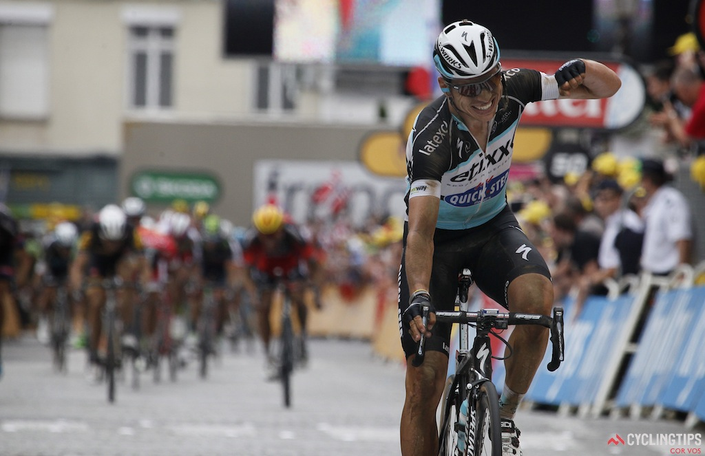 Tony Martin wins solo on stage 4 of the 2015 Tour de France.