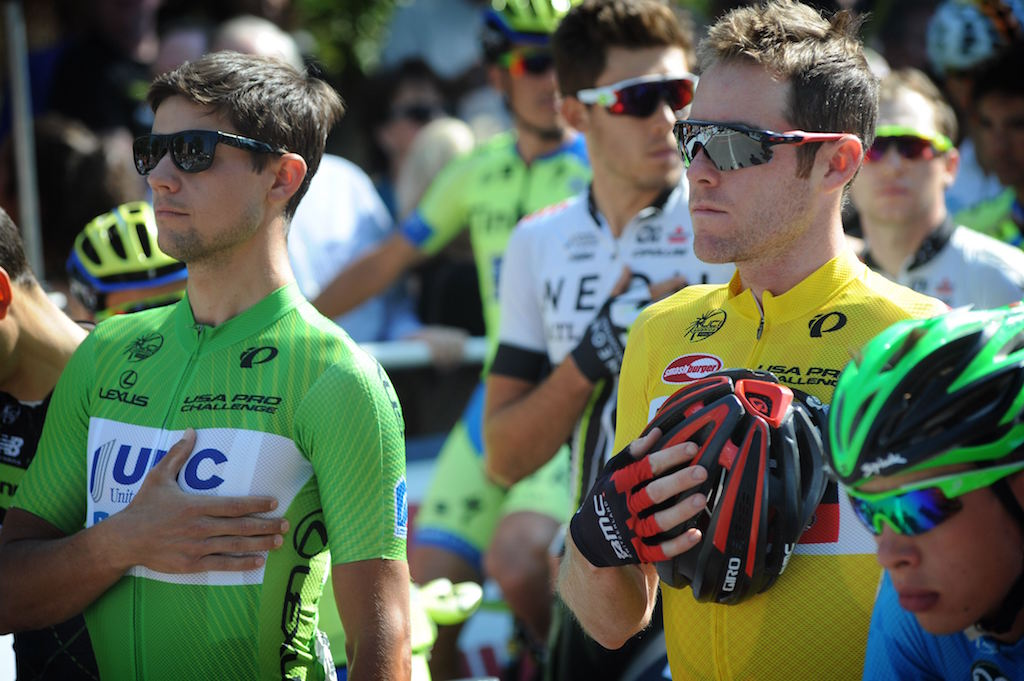 Points earned by Kiel Reijnen (UnitedHealthcare, left) at the 2015 USA Pro Challenge were applied toward the USA's Continental nation rankings; points earned by Brent Bookwalter (BMC Racing, right) were not. Photo Brian Hodes/Cor Vos.