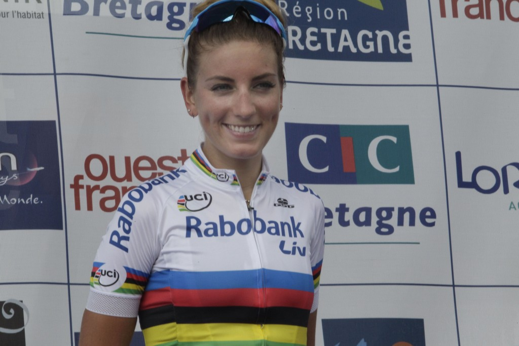Plouay - France - wielrennen - cycling - radsport - cyclisme - Pauline Ferrand Prevot of Rabobank Liv Women Cycling Team pictured during worldcup cycling race for women elite GP Ouest France - Plouay 2015 - photo Anton Vos/Cor Vos © 2015