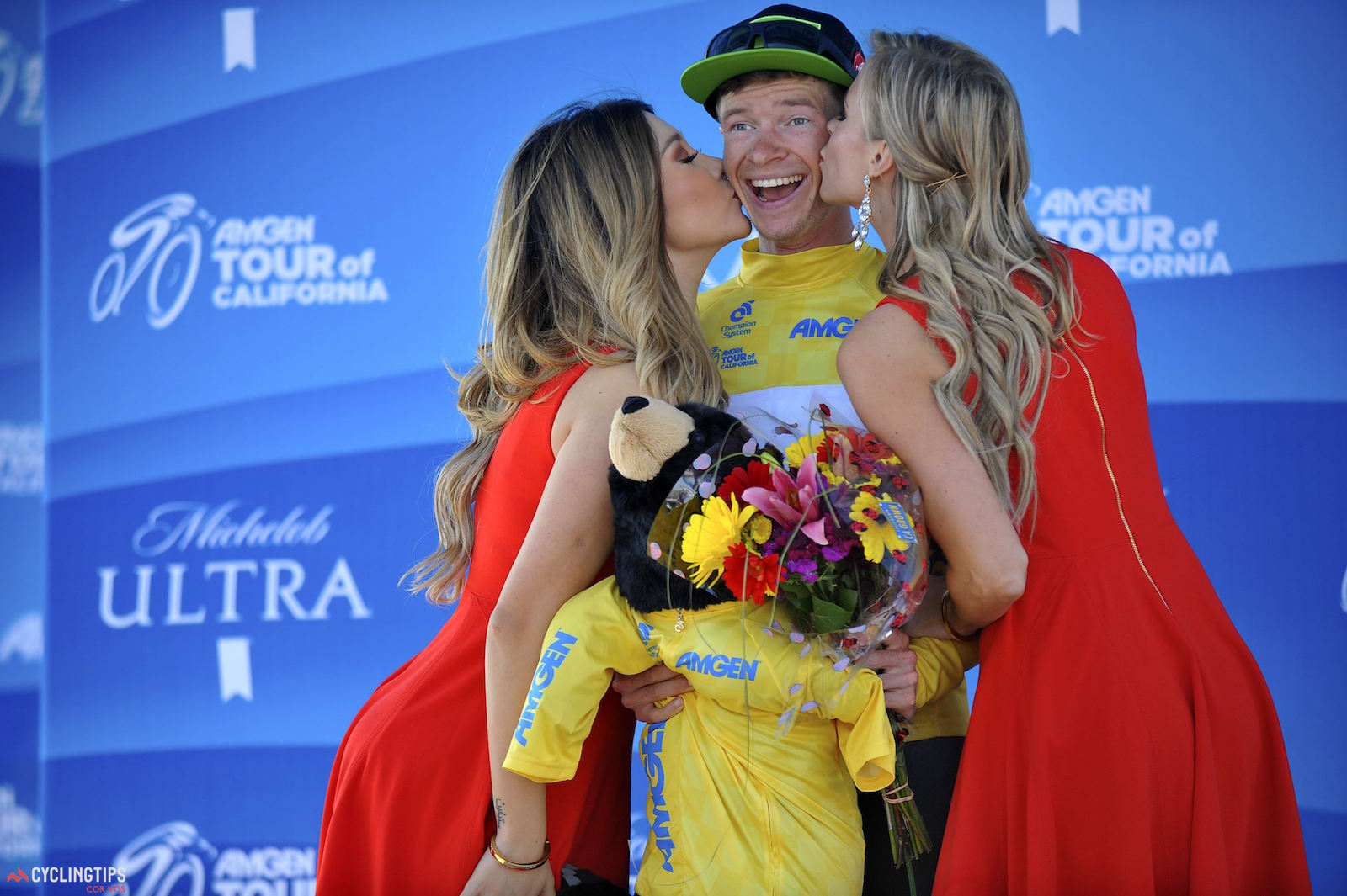 Ben King (Cannondale Pro Cycling), Stage 2 winner and race leader, 2016 Amgen Tour of California. Photo Brian Hodes/Cor Vos.