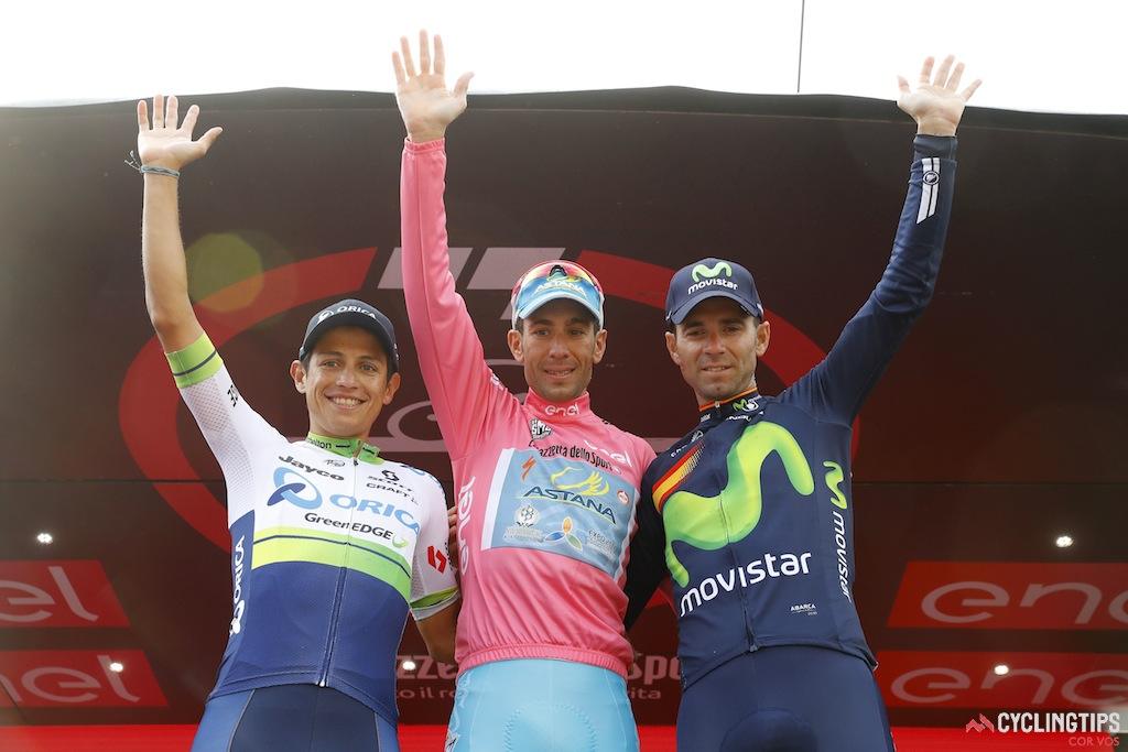 Third overall for Alejandro Valverde in his first Giro d'Italia.