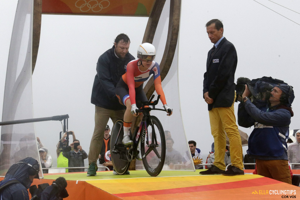 After winning the road race on Sunday, Anna van der Breggen was hoping for a historic double.