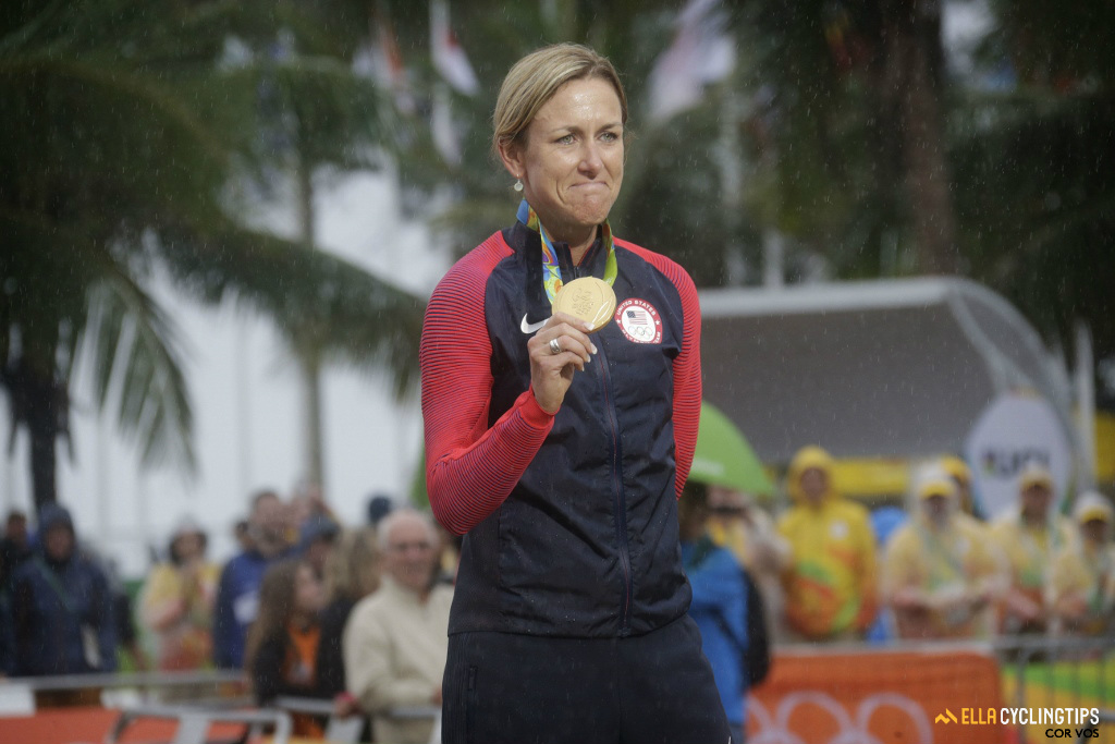 Armstrong is the first cyclist to win three gold medals in the same discipline.