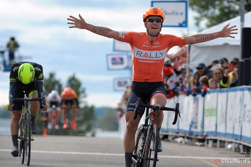 Evan Huffman (Rally Cycling), winner of Stage 3 of the 2016 Tour of Alberta. Photo Brian Hodes/Cor Vos.