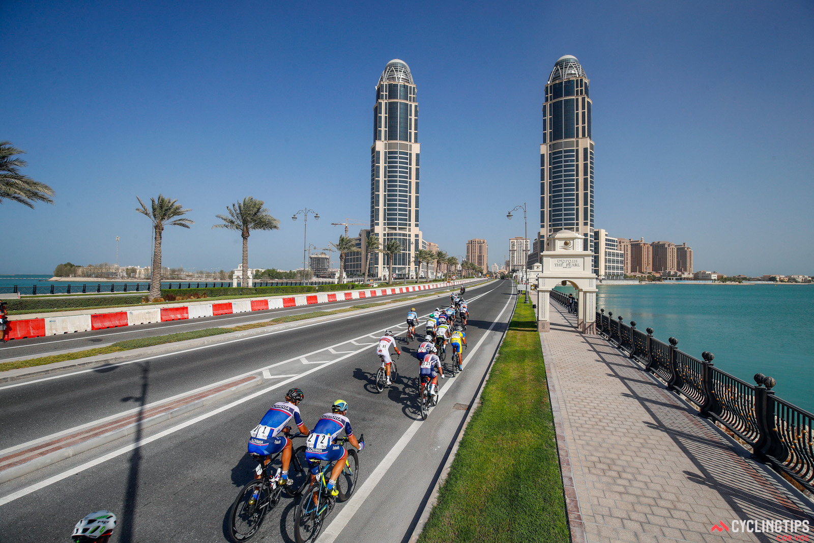 Doha - Qatar - wielrennen - cycling - radsport - cyclisme - illustration - sfeer - illustratie pictured during the Road Race of the UCI Road World Championships 2016 in Qatar - photo LB/RB/Cor Vos © 2016