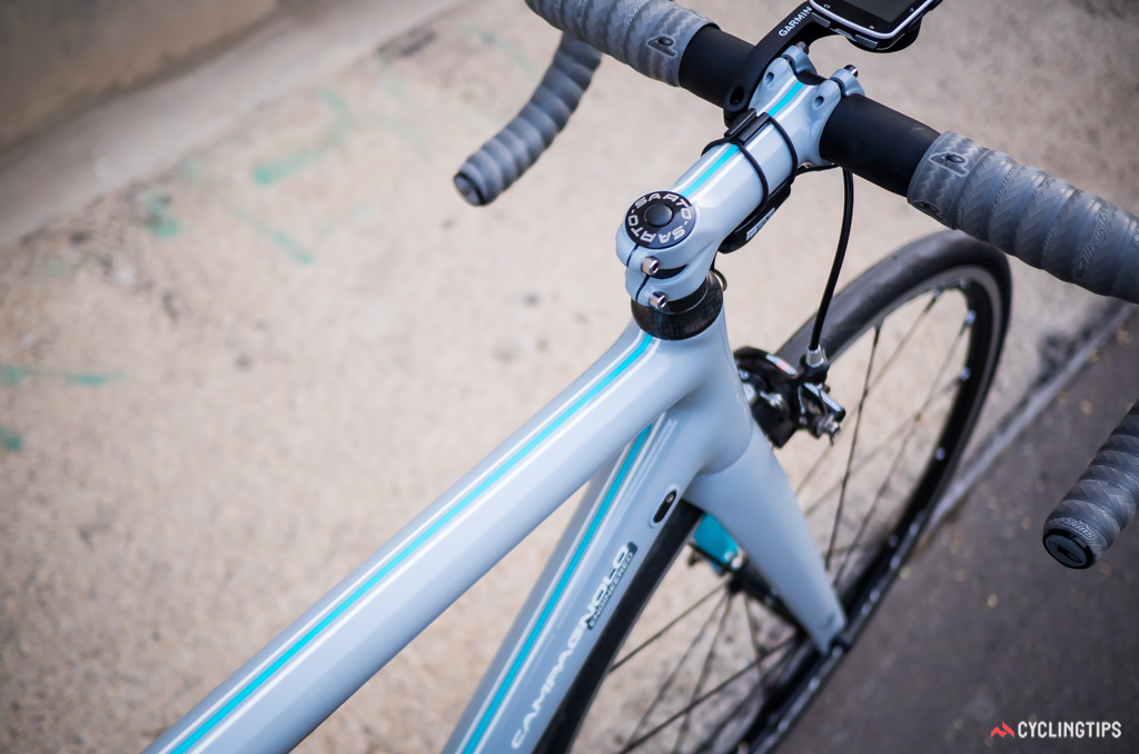 All of the demo bikes were custom painted Sartos with attractive stripes.
