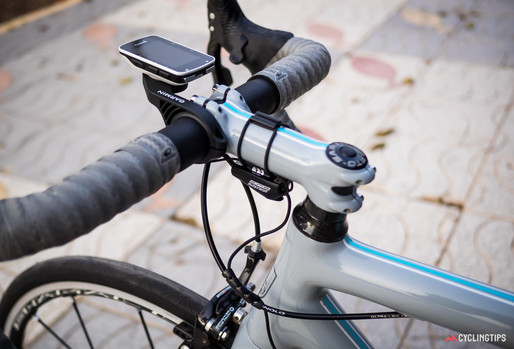 Demo bikes supplied for the ride on day two of the press camp were fitted with EPS V3. The Garmin 520 offered a live display of where the derailleurs were located as broadcast by the system using ANT+.