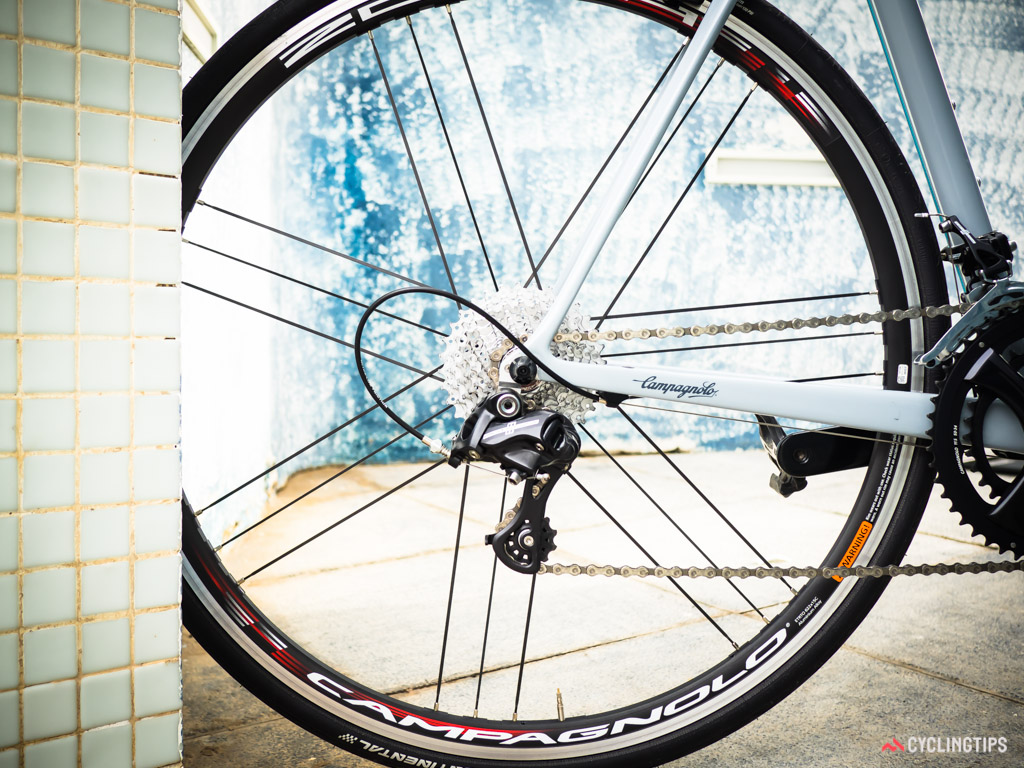 Potenza offers an option for an 11-32 cassette in combination with a mid-cage rear derailleur.