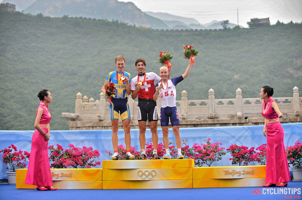 Cancellara won the time trial back at the 2008 Beijing Olympics, ahead of Gustav Larsson and Levi Leipheimer.