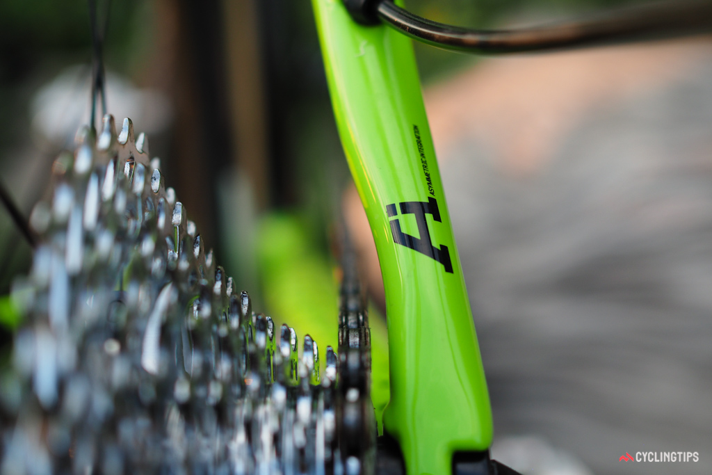 Cannondale says it was only able to combine extra-short chainstays with extra-generous tire clearance on the SuperX by using its Ai asymmetric rear end.