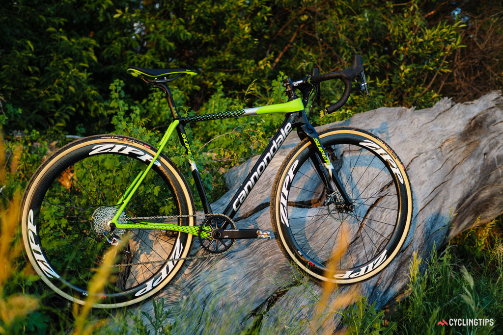 Cannondale has carried over its signature electric green for the new flagship SuperX cyclocross model but little else is shared with its predecessor.