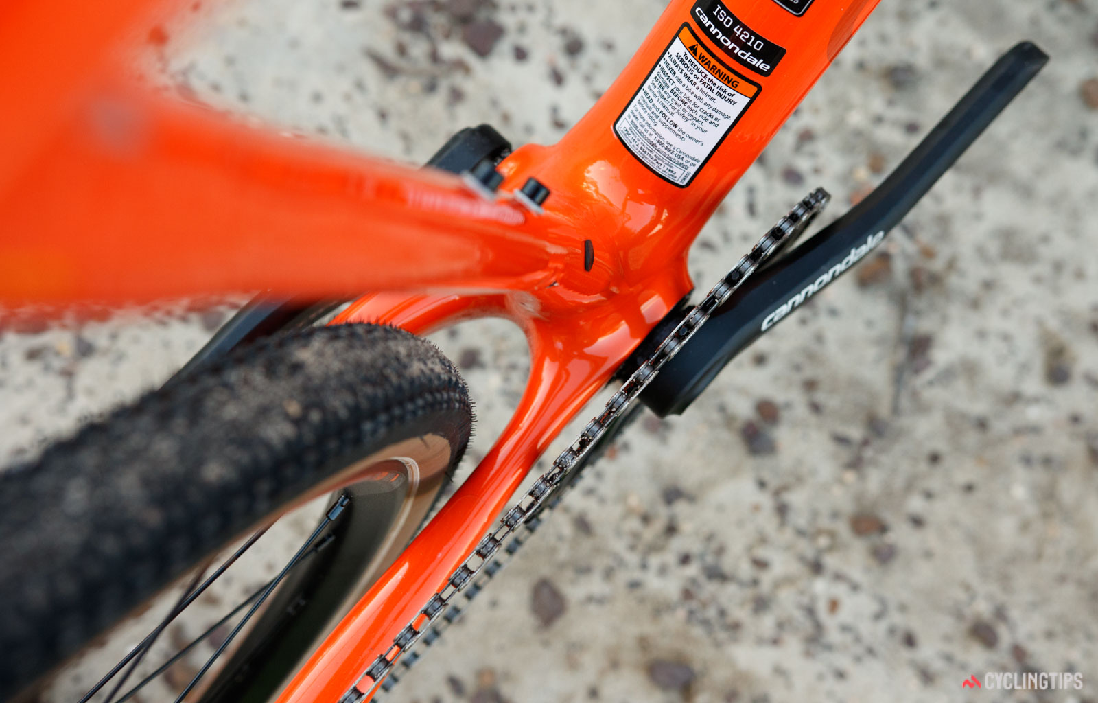 Cannondale SuperX SE rear tyre clearance