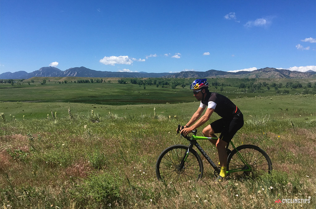 My first ride on the new SuperX was on familiar terrain in Boulder, Colorado, with former pro 'cross racer Tim Johnson.