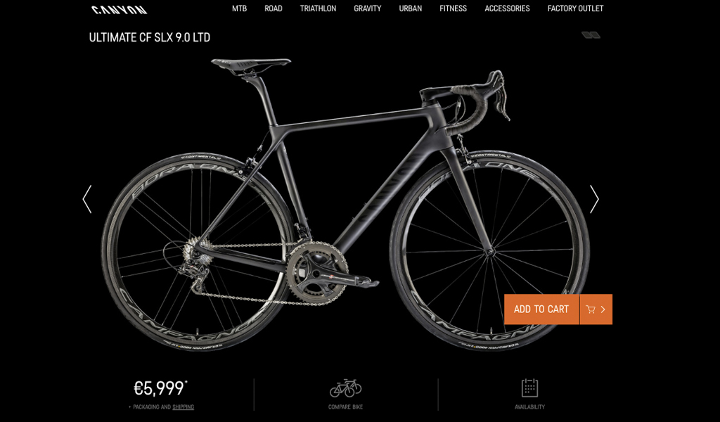 Soon enough, the 'Add to Cart' button will actually be functional for American cyclists interested in purchasing a Canyon.