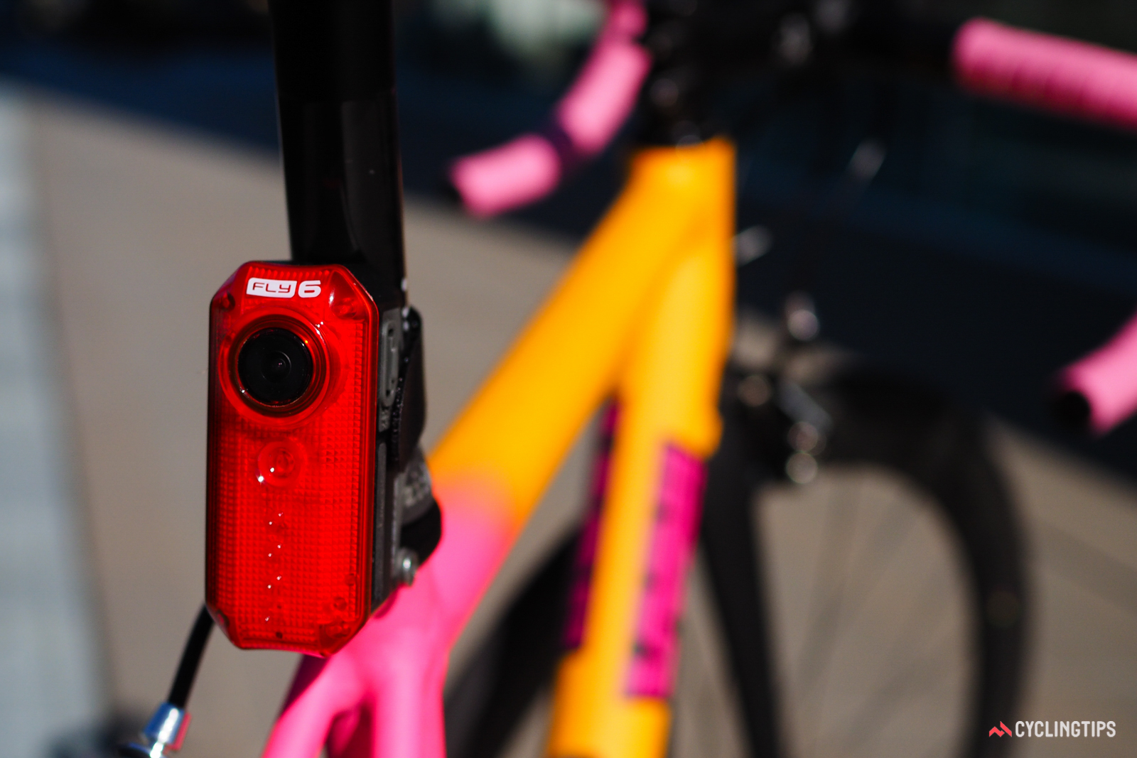 Even with the success of the original Fly6 rear-facing camera and LED flasher, Cycliq says it couldn't have launched the follow-up Fly12 front-facing unit without the help of Kickstarter. Photo: James Huang.