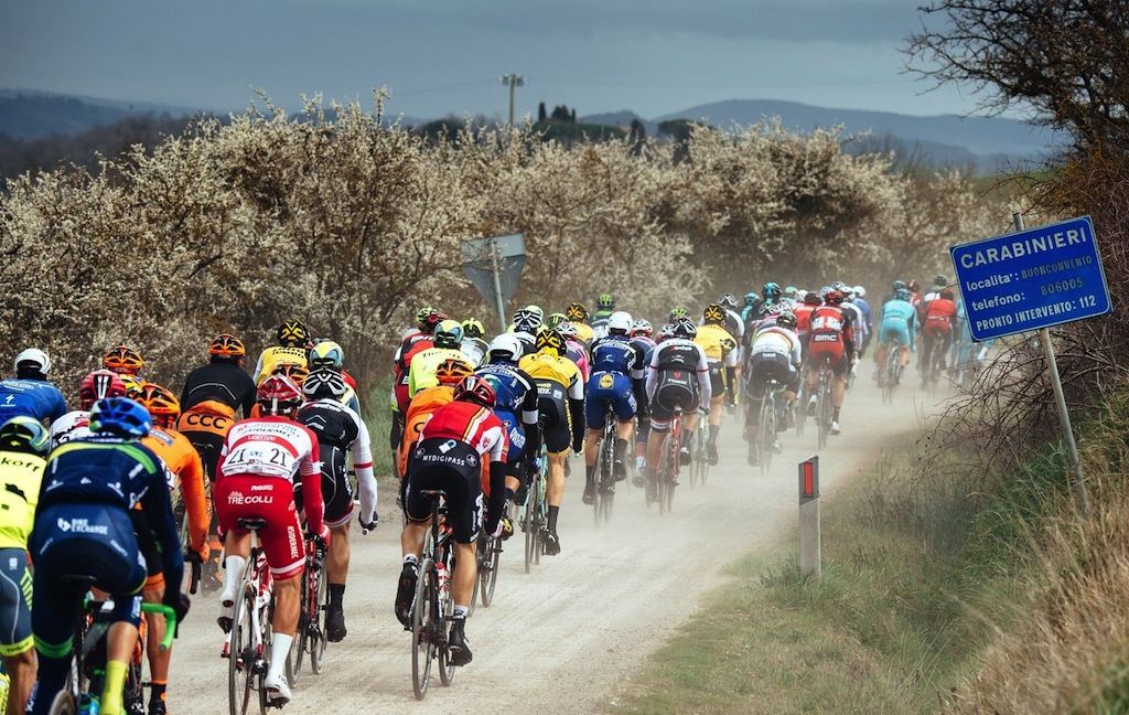 """The famous white roads (""""strade bianche"""") of Tuscany."""
