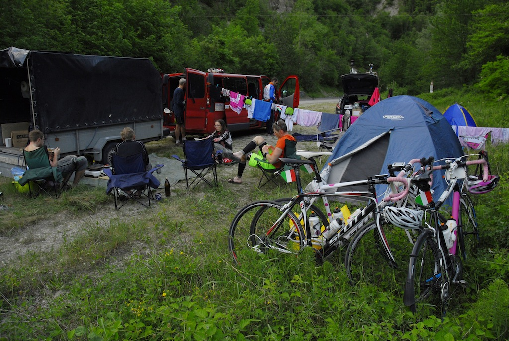 Wild camping in the national park near Biserno. A great place for cycling, running or hiking. Remote, quiet and steep.