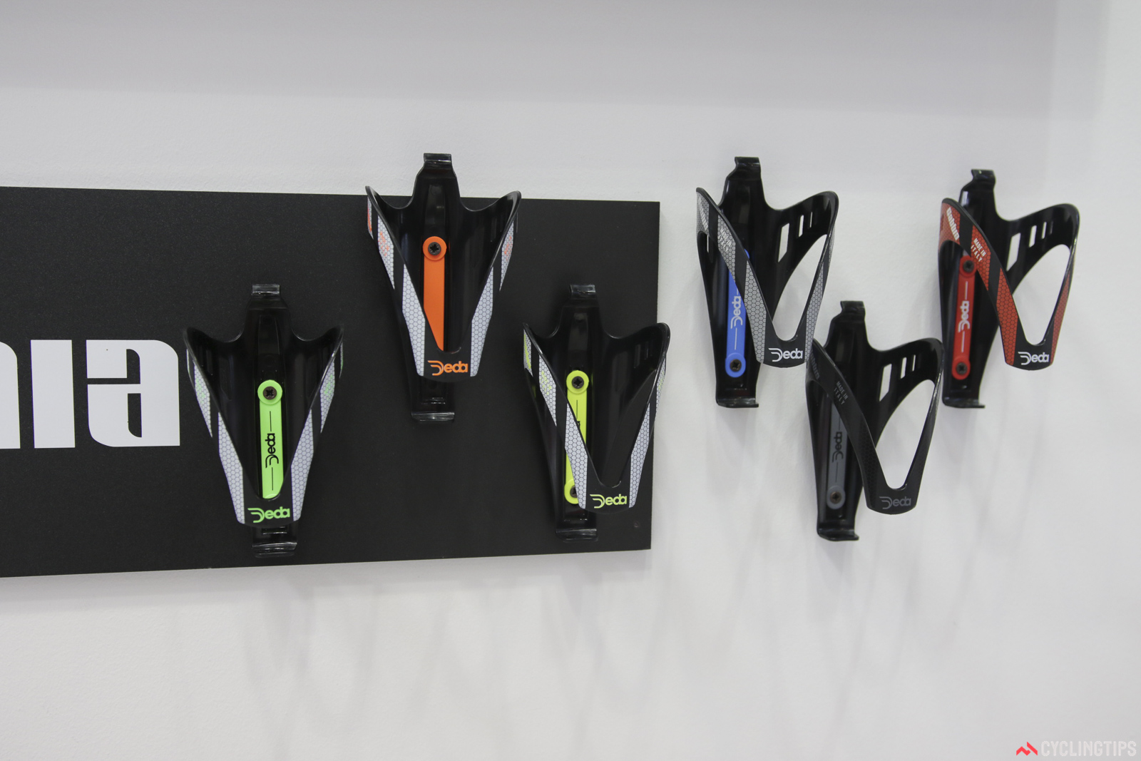 Deda have a carbon bottle cage called the Gabbia. It's available in six colours. Photo: David Rome.