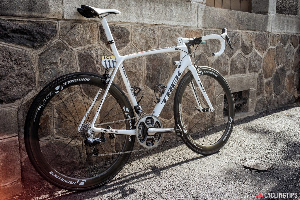 The Trek Emonda, as seen in action at the Dauphine recently.
