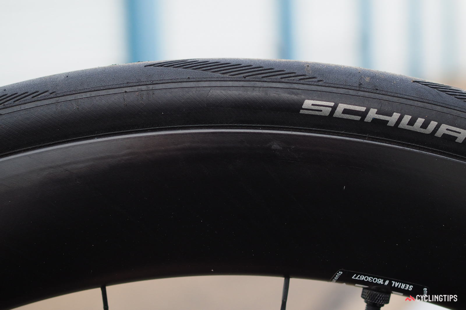 Both wheels had disconcerting blemishes that could be seen and felt. Exactly how much such voids and wrinkles affect the structural performance of the wheel isn't entirely clear, but they're unacceptable for a premium carbon fiber wheelset.