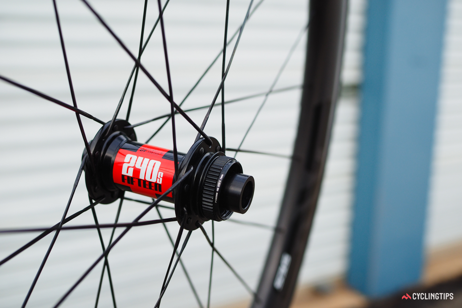 Enve offers the 4.5 AR Disc wheels with either DT Swiss 240s or Chris King R45 hubs, both with splined Center Lock rotor interfaces. Only the DT Swiss set can handle both 12mm and 15mm-diameter front thru-axles, though, plus they're 75g lighter for the set. Custom builds are also available through WheelBuilder.com.