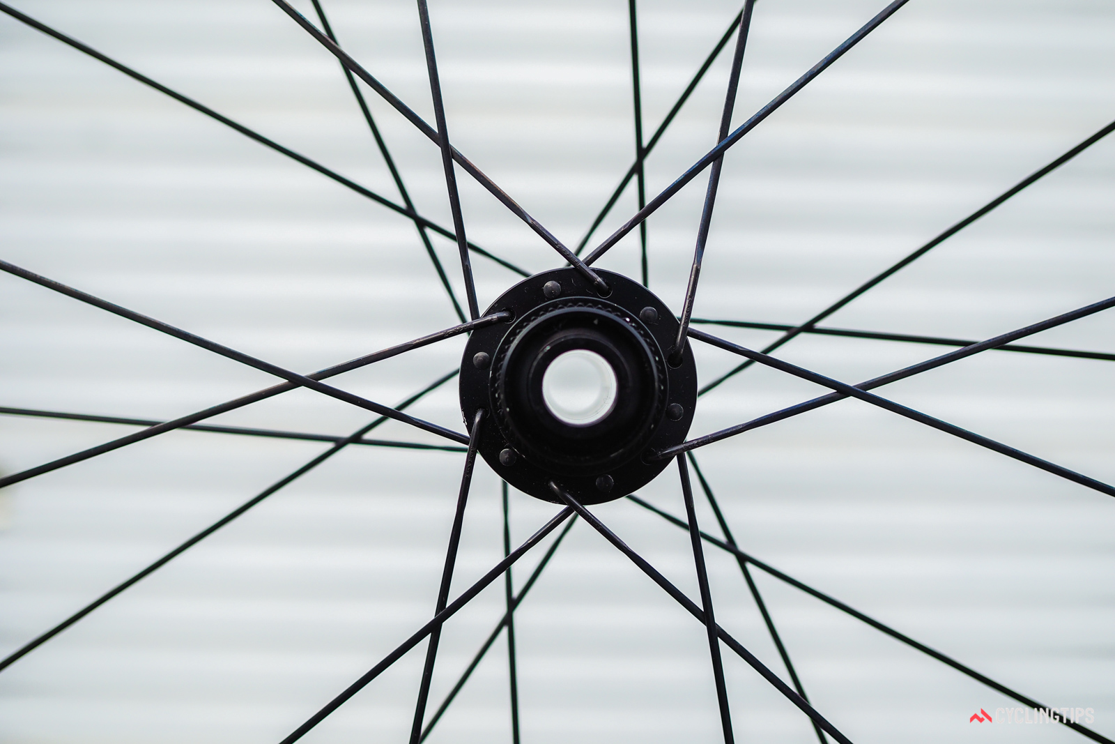 Enve builds the 4.5 AR Disc wheels with 24 Sapim CX-Ray bladed stainless steel spokes front and rear.