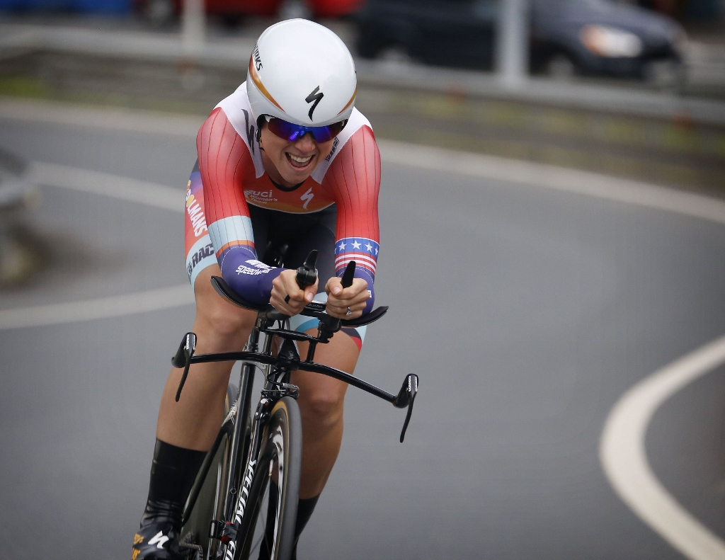 Iurreta - Spain - wielrennen - cycling - radsport - cyclisme - Evelyn Stevens of Boels Dolmans Cycling Team pictured during prologue ITT Time Trial Individual of the Euskal Emakumeen Bira 2015 (2.1) in Iurreta - women - photo Davy Rietbergen/Cor Vos © 2015
