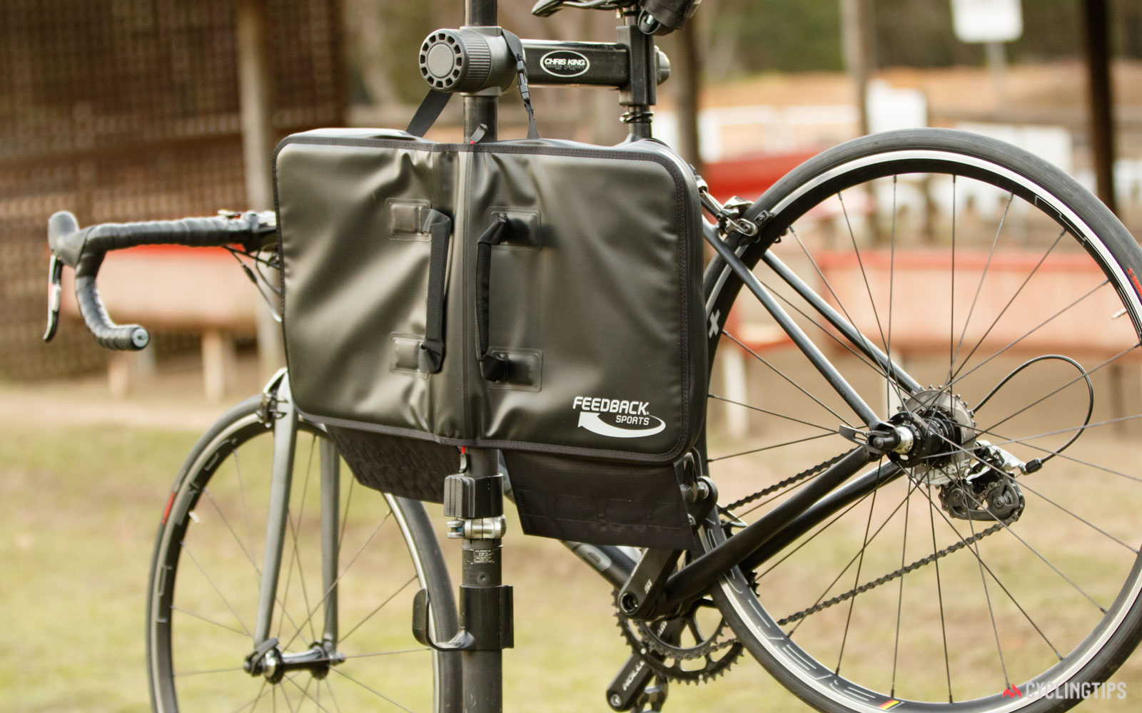 Feedback Sports Team Edition tool kit on a workstand