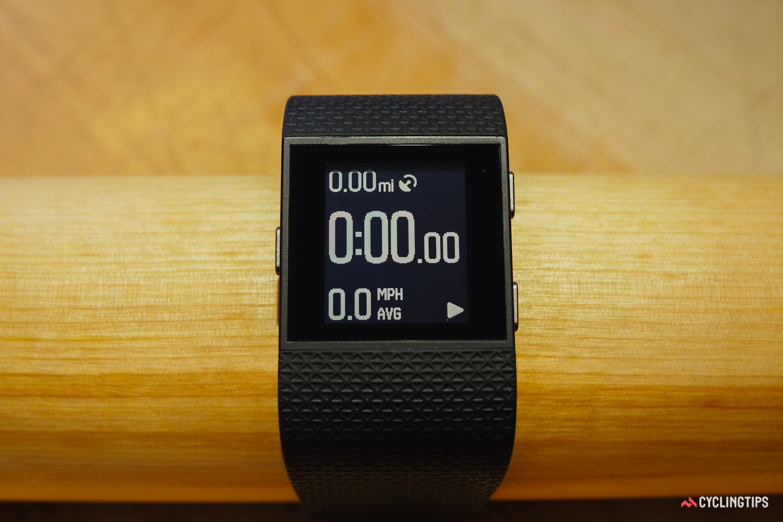 The Fitbit Surge's cycling data screens are decidedly limited.