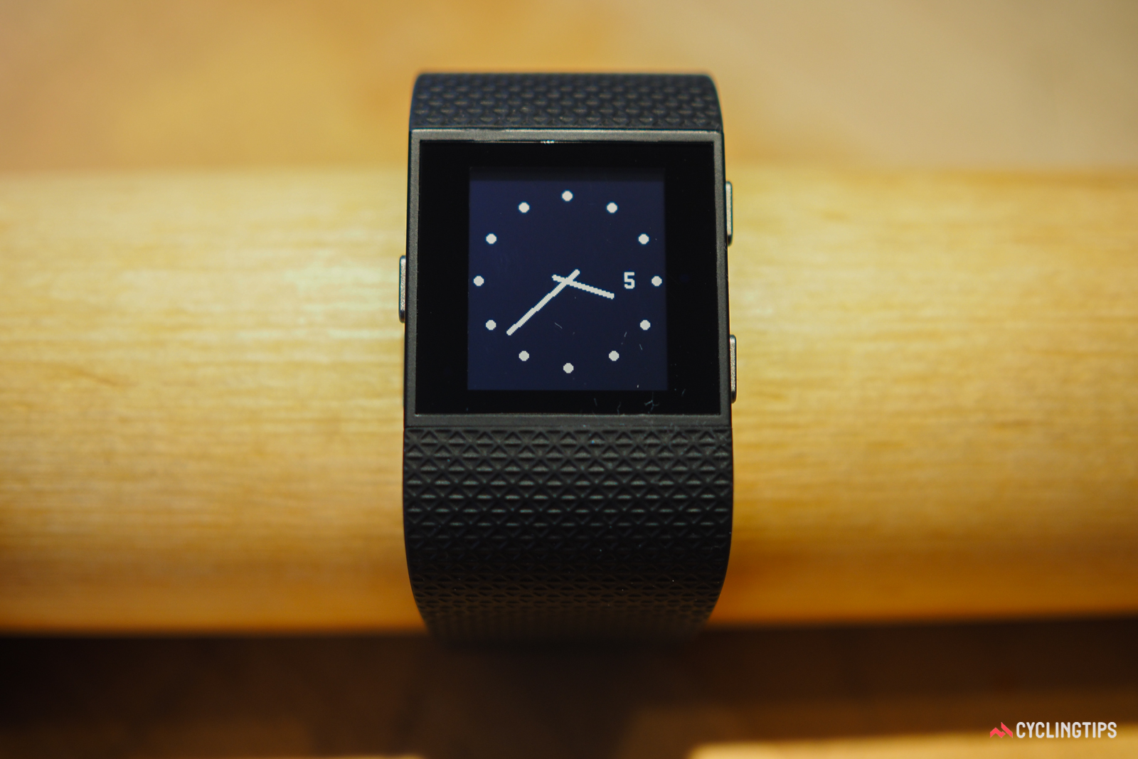 Both the Fitbit Surge and Garmin Vivoactive HR can be customized with different watch faces. Either way, though, there's no escaping the techy aesthetics.