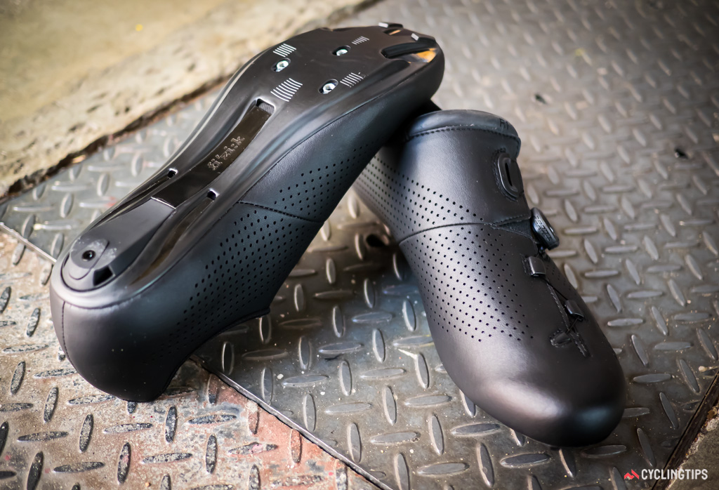 The uppers appear leather-like but are made from Microtex synthetic with laser perforations.