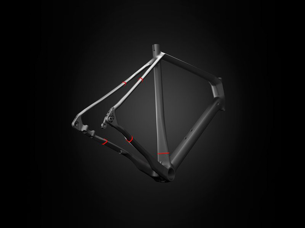 Strategically flattening sections on the rear end of the frame is a common strategy for boosting rider comfort. Photo: Focus Bicycles.